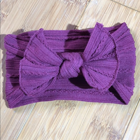 Baby Bling Bows Other - Baby Bling Bows Cable Knit Knot Raspberry 391d4cf32b8